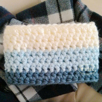 Infinity Scarf Neckwarmer for Toddlers, Children, and Adults - Available in ombre blue, ombre pink and Brown/Orange color