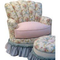 Angel Song 201421101DOWN Blossoms & Bows Adult Princess Glider Rocker w/ Plush Down Cushion