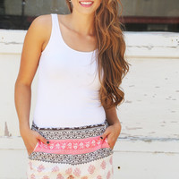 Damask All Over Shorts