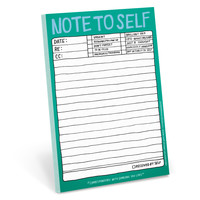 Hand-Lettered Note to Self Pad by Knock Knock - knockknockstuff.com