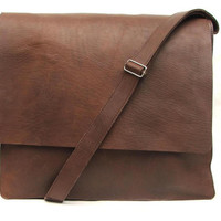 Messenger bag Mens Women Unisex Brown Leather Satchel leather handbag laptop bag Leather bag hand made