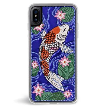 Koi Embroidered iPhone X Case