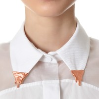 Rose Gold Plated Collar Tips | Bjørg | Avenue32