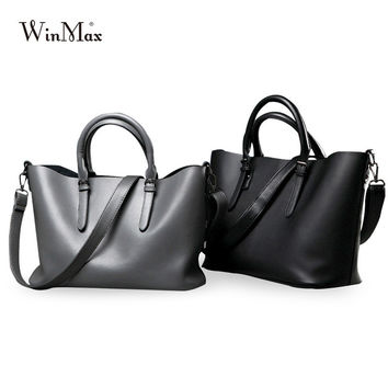 Winamx Luxury Women Leather messenger Bag famous Brand Designer solid laptop handbags sac a main Crossbody bag shoulder bag tote