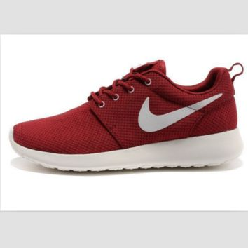 NIKE fashion network sports shoes casual shoes Red and white