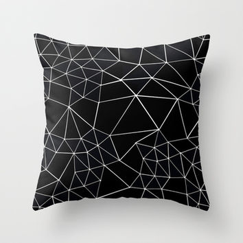 Segment Zoom Black and White Throw Pillow by Project M