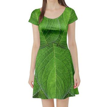 Tinkerbell Inspired Short Sleeve Skater Dress
