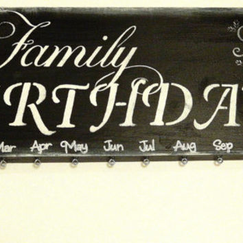 Family Birthday Plaque Board Wall hanging