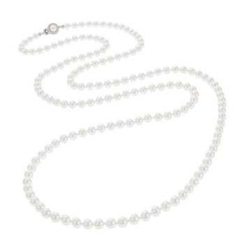 Nadri Faux Pearl Opera Necklace