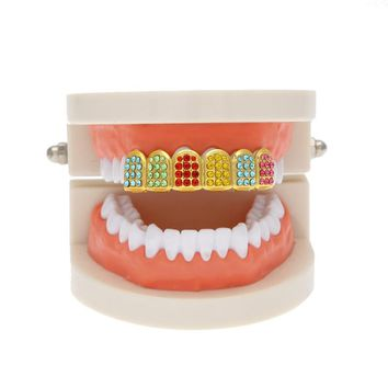 Single Row CZ Colorful Grill