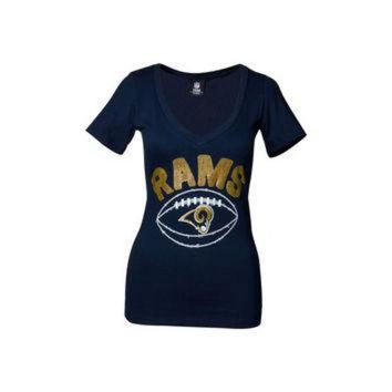 PEAPYD9 St. Louis Rams NFL Womens Baby Jersey Football T-Shirt