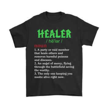 ESBINY Healer Keep You Noobz Alive Gamer Definition RPG Shirts