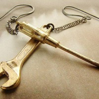 Tools Under My Ears screw driver earrings a great by soradesigns