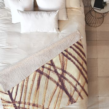 Shannon Clark Sheer Gold Fleece Throw Blanket