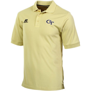 Georgia Tech Yellow Jackets Russell Staff Sideline Dri-POWER Polo - Yellow