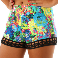 Give It A Whirl Shorts: Multi