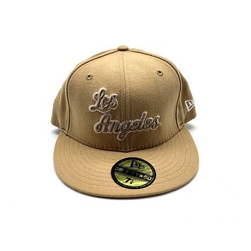New Era 59FIFTY Los Angeles Mustard Fitted Hat