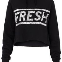 **Fresh Cropped Hoody by Illustrated People - Topshop