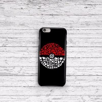Pokemon Pokeball Art iPhone 5 5c 6 6plus and Samsung Galaxy S5 Case