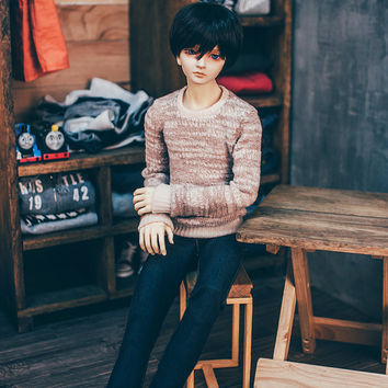 Warm pull over sweater-beige (SD13&SD17)