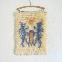 Vintage Swedish Lions Wool Wall Hanging by luola on Etsy