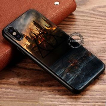 Castle In Fire Harry Potter Hogwarts iPhone X 8 7 Plus 6s Cases Samsung Galaxy S8 Plus S7 edge NOTE 8 Covers #iphoneX #SamsungS8
