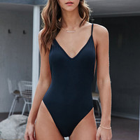 LA Hearts Solid Low Back One Piece Swimsuit at PacSun.com