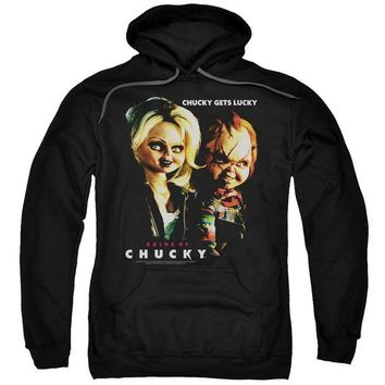 ac spbest Bride Of Chucky - Chucky Gets Lucky Adult Pull Over Hoodie