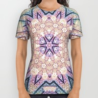 Metallic Pink Doily Geometric Star All Over Print Shirt by Webgrrl