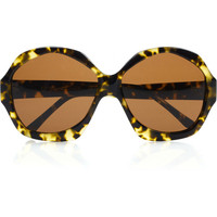 House of Harlow Anais geometric round-frame acetate sunglasses – 50% at THE OUTNET.COM