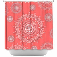 DiaNoche Designs Infinity Coral by Monika Strigel Fabric Shower Curtain