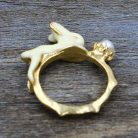 Golden Rabbit and Pearl Ring