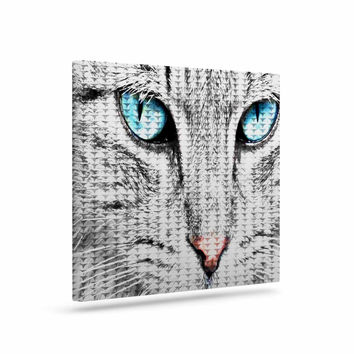 "Suzanne Carter ""Cat"" Gray Digital Canvas Art"