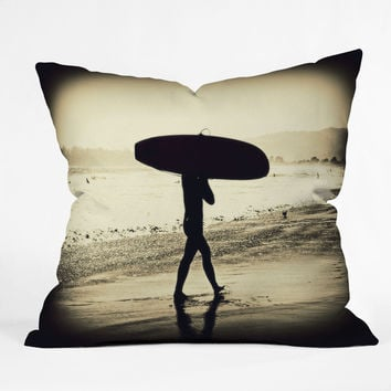 Shannon Clark Surfers Silhouette Throw Pillow