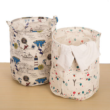 Canvas Cotton Linen Toy Storage Bin 40x50 CM [6377497924]