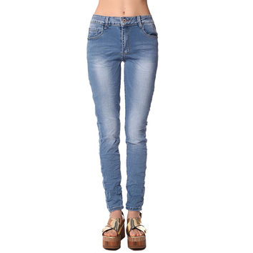 High waist super skinny jeans in crack effect