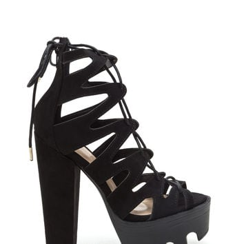 Get Laced Rugged Platform Heels