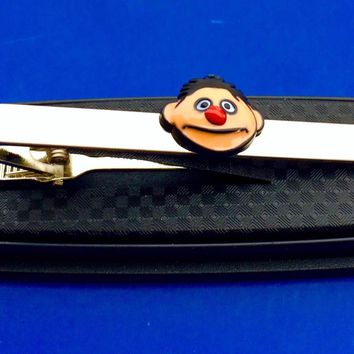 Ernie tie clip Sesame Street tie bar gift idea tie clasp~Handmade in the USA~FAST Shipping from the USA