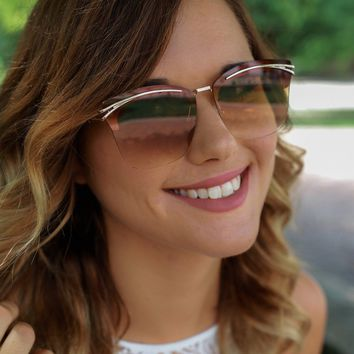 Afternoon Glow Sunglasses - Brown