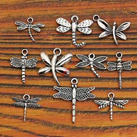 Mixed Tibetan Silver Plated Insect Dragonfly Bee Charms Pendants Jewelry Making Accessories Diy Jewelry Findings Zinc Alloy m004