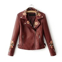 Moxi Embroidered Patchwork Jacket