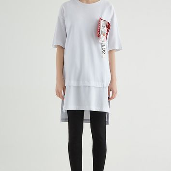 Labeled Longline Tee