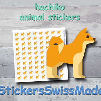 PLANNER STICKER || hachiko - dog || animal stickers || small colored icon | for your planner or bullet journal