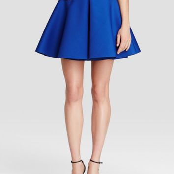 AQUA Skirt - Inverted Pleat Flared | Bloomingdales's