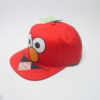 Sesame Street Elmo Face Baseball Cap Snap Back Hat Licensed Teen Adult Red