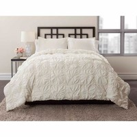 East End Living Knotted Squares 3-Piece Bedding Comforter Set, Ivory - Walmart.com