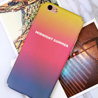 Unique Gradient Case Cover for iPhone 6 6s Plus Gift 424