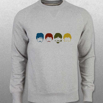 the beatles sweater Gray Sweatshirt Crewneck Men or Women Unisex Size with variant colour