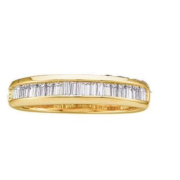 14kt Yellow Gold Women's Baguette Diamond Wedding Band Ring 1/4 Cttw - FREE Shipping (US/CAN)