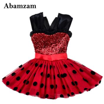 Cute Miraculous Ladybug Girls Dress Kid Children Cosplay Costumes Halloween Marinette Child Lady Bug Christmas Infantil Clothes